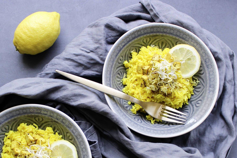 Zitronenreis mt Tofu und VEGGY Exotic