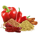 Paprika mit Chili, Koriander und Zimt