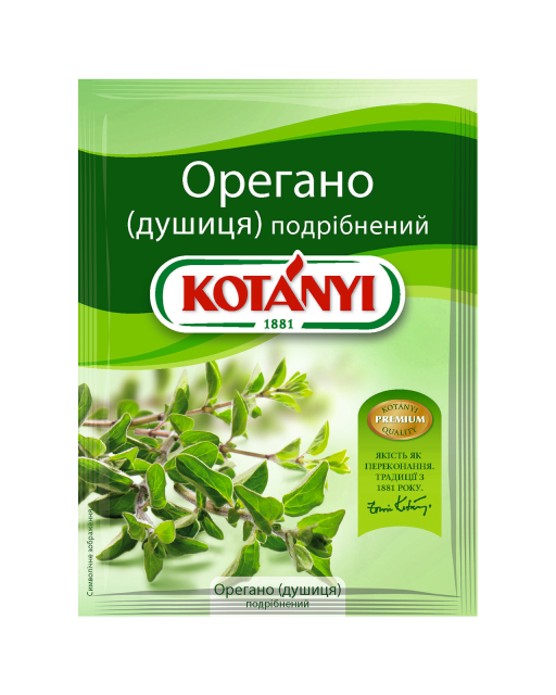 154213 Kotanyi орегано (душиця) подрібнений B2c Pouch