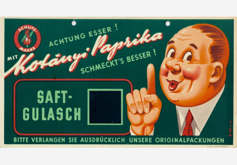 Рекламний знак Kotányi, 1950-ті рр.