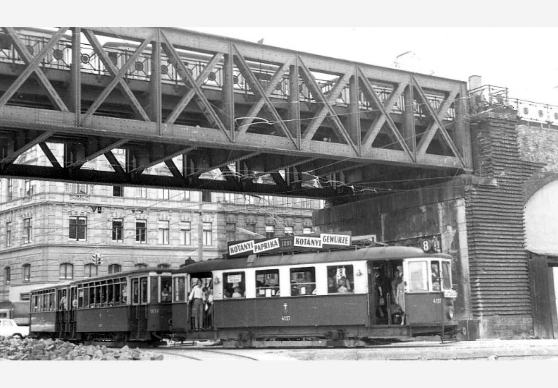 Трамвай у Відні з рекламою Kotányi, 1957р.