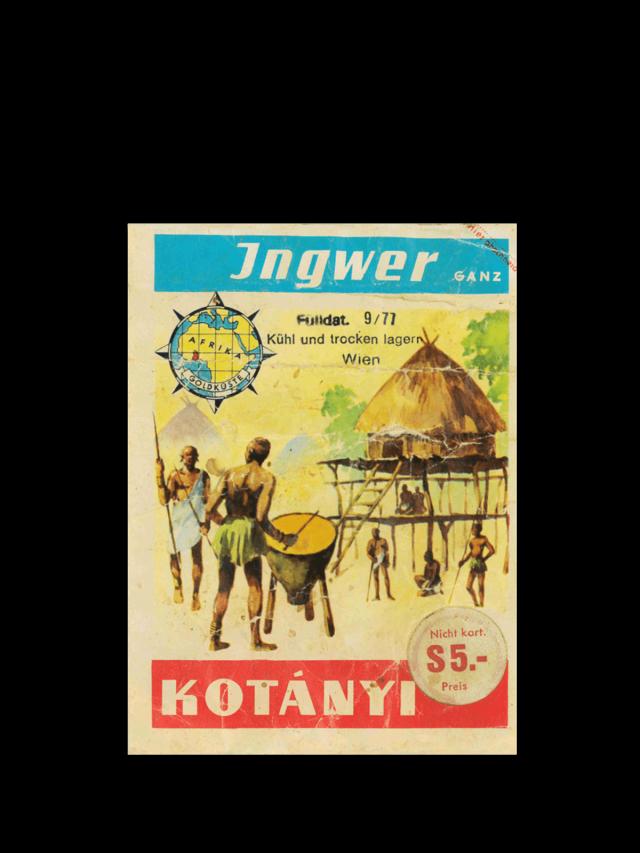 Пакетик імбиру Kotányi, 1970-ті рр.