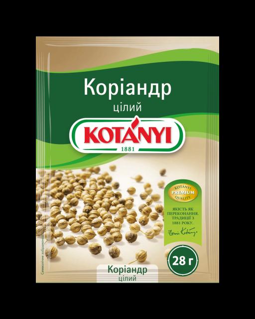 152813 Kotanyi коріандр цілий B2c Pouch Min